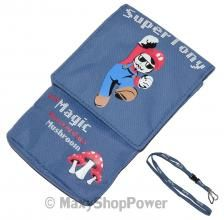 TONY SMILZO CUSTODIA FONDINA UNIVERSALE POUCH DA COLLO SUPER TONY BLU BLUE NEW NUOVO - SU WWW.MAXYSHOPPOWER.COM