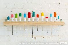 DIY Screwdriver Rack . Keep your home neat and tidy with these Home Organization Ideas #home #organization #garageorganization