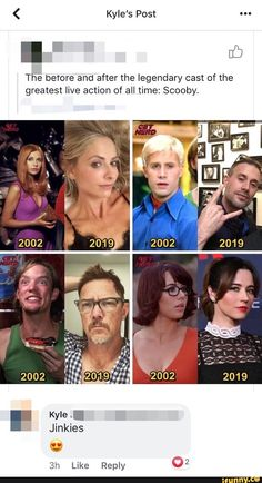 The beTore and after the legendary cast of the greatest live action of all time: Scooby. Stupid Funny Memes, Funny Relatable Memes, Hilarious, Memes Humor, Funny Humor, Live Action, Scooby Doo Memes, Scooby Doo Movie, Scooby Doo Mystery Incorporated