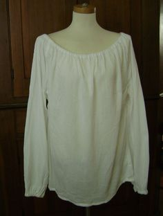 Estate Cotone shirt-maid-pirate-gypsy blouse-cream o brown-plus sizes-costume