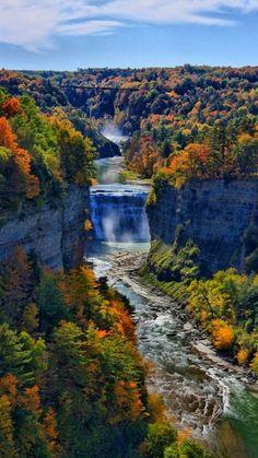 Falls in Letchworth State Park, New York - Photo by Matt Champlin