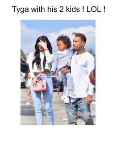 Tyga with His two Kids.