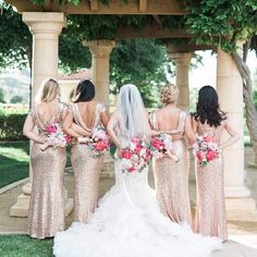Love this Bridal Entourage photo at #weddingsatrubyhill.  Great style, perfect amount of #bridemaids and amazing flowers by #theflowerhouse. Happy Planning!!!!