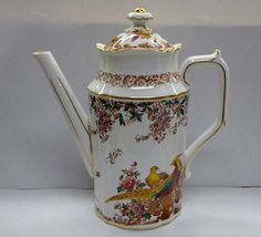 "Royal Crown Derby ""Olde Avesbury"" 14 Pattern 9.5""H x 8""W Teapot with Lid; marked ""Royal Crown Derby Made in England XIV 'Olde Avesbury' Bone China"""