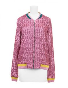 Bomber Light Pink Sleepy | Mary Katrantzou x Disney x Colette Mary Katrantzou, Athletic, Zip, Sweaters, Jackets, Disney, Fashion, Down Jackets, Moda