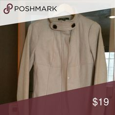 Fashion Jacket Oatmeal colored knee length jacket. Love Stitch Jackets & Coats