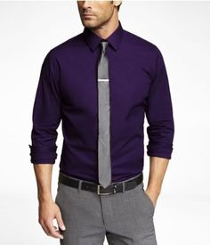 FITTED 1MX STRETCH COTTON SHIRT | Express
