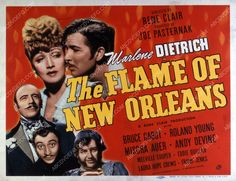 Marlene Dietrich Bruce Cabot film The Flame of New Orleans 35m-3066