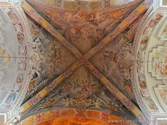 Badia di Dulzago (Novara, Italy) - Frescoed voult of the central span of the Church of San Giulio