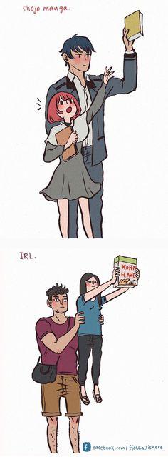 20張甜蜜爆笑情侶插畫說明「另一半越欠揍你反而越愛」!#2 男友刮鬍子超白目!% 照片