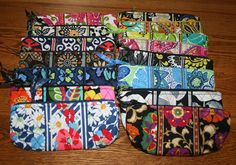 NWT Vera Bradley Brush and Pencil Cosmetic Case Bag  School Pouch  Medium Small #VeraBradley