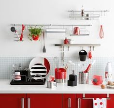Cuisine photos and collations on pinterest for Accessoire deco rouge