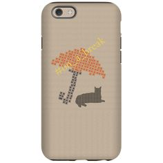 Funny On a Break Cat Umbrella Beach iPhone 6/6s Tough case, personalize and buy!