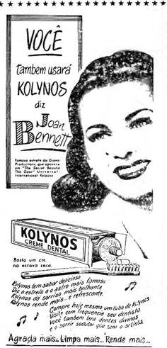 Publicidade do Creme Dental Kolynos, publicada no Jornal O POVO, em 15/10/1948 - Pág. 04