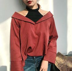 ᴀɴʟᴀʏ - ʙʟᴏᴜsᴇ | ᴛᴏᴘ | Kfashion Blog - Korean Fashion - Seasonal fashion, aesthetic fashion #KoreanFashion