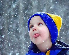 catching snowflakes on your tongue   =)