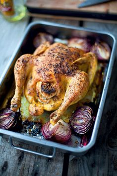 Roasted Chicken with Lemon & Oregano Roast Chicken Dinner, Roast Chicken Recipes, Chicken Soup, Turkey Recipes, Lemon Chicken, Roasted Chicken, Oregano Recipes, Coq, Sangria