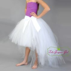 Cream High-Low Tutu Skirt