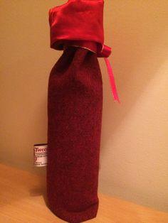 Harris tweed bottle bag