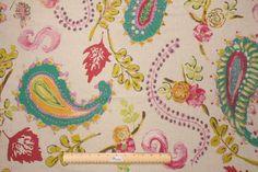 Hamilton La Parisienne Printed Linen Drapery Fabric in Ice Flower $39.95 per yard