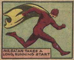The Devil. Retro Satan Running. Vintage Comic Book Pop Art Illustration