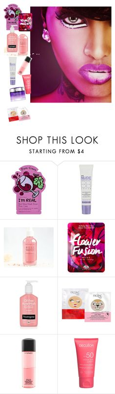 """""""just a little bit"""" by allysun-bem ❤ liked on Polyvore featuring Charlotte Russe, L'Oréal Paris, Nails Inc., MAC Cosmetics and Lancôme"""