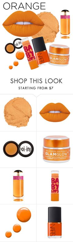 """Orange lips. 👄"" by mariapiamemoli1997 ❤ liked on Polyvore featuring beauty, Lime Crime, Benefit, GlamGlow, Prada, Maybelline, Topshop and NARS Cosmetics"