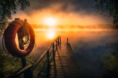 Morning Haze - Fabulous moody sunrise. Taken last summer at Hämeenlinna, Finland. Re-edit image. Have a great new week ahead!