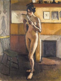 Albert Marquet, Nude by the Fire, c.1913, Oil on canvas, 80,3 x 62,5 cm, Private collection
