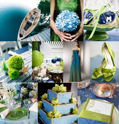 Wedding Inspiration Board: Blue and Lime