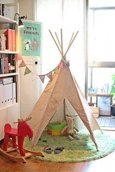 Inspiração de tendas infantis para decorar o quarto das crianças e deixá-lo também mais divertido! #cabana #tenda #oca #kid #children #decoracao #decoration #kidsroom #creativity #criancas #quartoinfantil #inspiracao #inspiration