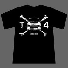 T4 Bus X-Bones T-Shirt – das Original von Old School Racing $19.90