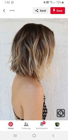 Balayage Hair Brunette With Blonde, Balayage Hair Ombre, Light Brunette, Ombré Short Hair, Short Hair Styles, Blonde With Red Highlights, Fall Hair Cuts, Light Hair, Hair Videos