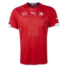 The home shirt is a simple and sophisticated design and a standalone silhouette for the Swiss national football team.The design of the shirt is inspired by the Swiss flag; the main body colour is PUMA Red and white lines run vertically down the left and right side of the torso. It also features a subtle tonal embossed Swiss Cross across the main front panel, representing the national pride of Switzerland.