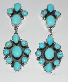 Navajo Earrings Turquoise Sterling Silver Jennifer Begay