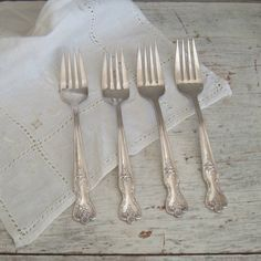 vintage four dessert salad forks by ImSoVintage on Etsy, $16.00