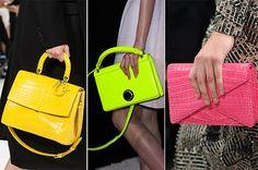 Fall/ Winter 2014-2015 Handbag Trends: Neon Bags  #bags #bagtrends #trends