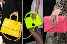 Fall/ Winter 2014-2015 Handbag Trends: Neon Bags  #bags #bagtrends #trends
