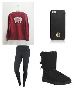 """Untitled #34"" by courtney-faith-5 ❤ liked on Polyvore featuring NIKE, UGG Australia, Tory Burch, women's clothing, women's fashion, women, female, woman, misses and juniors"