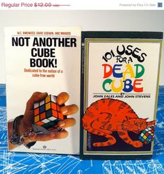 Pair of Rubik's Cube Humor Books 1981 Not Another by vintagebaron