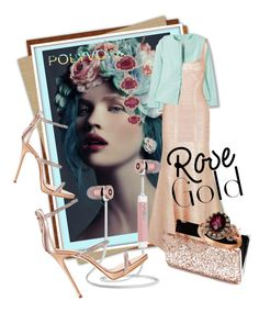 """""""So Pretty: Rose Gold Jewelry"""" by kari-c ❤ liked on Polyvore featuring MANGO, Hervé Léger, Giuseppe Zanotti, Miss Selfridge, Anne Sisteron, LE VIAN and rosegold"""