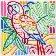 "Mola Macaw Square  7.79""(w) x 7.78""(h)"
