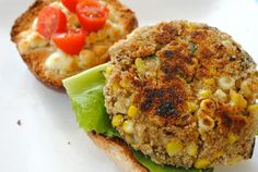 Roasted Eggplant Burgers. My husband would love these.