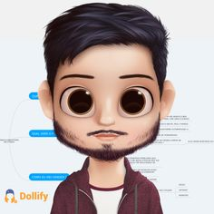 Check out my doll! Avatar, Animated Man, Pepe Le Pew, Cute Cartoon Pictures, Cartoon Eyes, Karen, Big Eyes, Round Sunglasses, Halloween Face Makeup