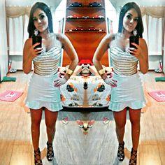 A Rafaela, de BH, divou com o branco puro luxo da OU!     Clique Glamouroso!  #OUfashion #aloverão2015 #dress #teen