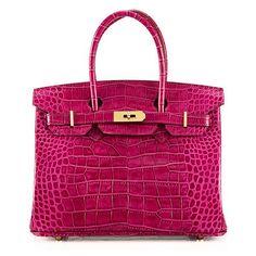 45e3565e400 House Of Hello Women s Genuine Leather BK Style Crocodile Grain  Top-handle-bags Rose Pink 35CM  Handbags  Amazon.com