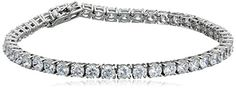 Best Bracelets For Women | Platinum Plated Sterling Silver Round Cut 4mm Cubic Zirconia Tennis Bracelet 7 ** You can find more details by visiting the image link. Note:It is Affiliate Link to Amazon.