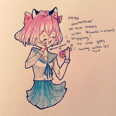 Ahaha omg why is kawaii~chan so me? From the last Phoenix Drop High episode made by Aphmau! Characters belongs to her . My white ink doesn't work TwT . will come soon guys Aphmau Kawaii Chan, Phoenix Drop High, Aarmau Fanart, Aphmau Memes, Zane Chan, Tokyo Mew Mew, Inner Demons, White Ink, Cute Art