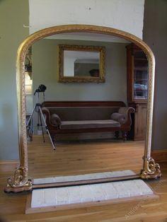 Antiques Atlas - English Giltwood Overmantel Mirror Circa 1880