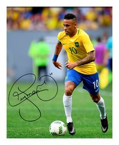 GBP - Neymar - Brazil Autographed Signed Pp Poster Photo Neymar Brazil, Lionel Messi, A4, Signs, Sports, Poster, Shopping, Phone Wallpapers, Shop Signs